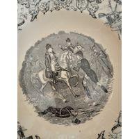 Тарелка Наполеон Франция Война 1850 гг