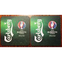 Подставка под пиво Carlsberg No 32, EURO 2016
