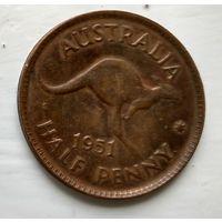 "Австралия 1/2 пенни, 1951 Точка после ""PENNY""  3-4-24"