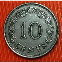 102-09 Мальта, 10 центов 1972 г.