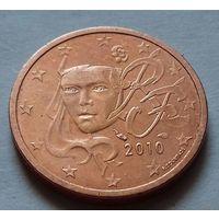 1 евроцент, Франция 2010 г., AU