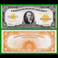 [КОПИЯ] США 10 долларов 1922г. Золотой Сертификат.