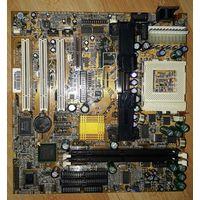 Редкая ретро-плата BIW1B с панельками под процессоры Slot1 и Socket-370 (разъёмы под питание AT/ATX, встроенное видео и звук). Плата под процессоры Intel Celeron, Pentium-II,  Pentium-III. =Рабочая=