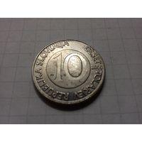 Словения 10 толаров 2000 год.