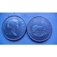 SUID Африка 5 s 1958г. Елизавета II Регина. (копия) распродажа