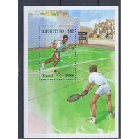 [1610] Лесото 1987.  Спорт.Олимпиада.Теннис. БЛОК.
