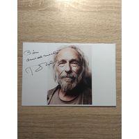 Фото с автографом актера Пьера Ришара.