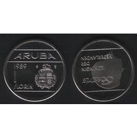Аруба _km5 1 флорин 1989 год (ba) перв.год (b06)