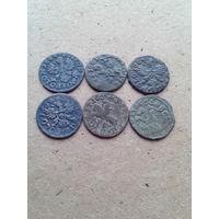 Боратинки 1660 - 1666 г.Без повторов.(цена за все).