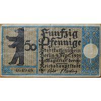 Нотгельд 50pf 1921г. Берлин #15