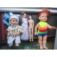 Куклы, самыя большая 40 см. 4 ШТ. ЦЕНА ЗА  ВСЕ