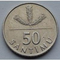 Латвия 50 сантимов. 1992