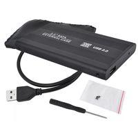 "Бокс для 2.5"" HDD SATA Aluminium USB 2.0, Black, Silver"