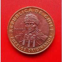 52-07 Чили, 100 песо 2010 г.