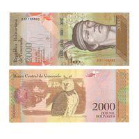 Банкнота Венесуэла 2000 боливаров 2016 UNC ПРЕСС