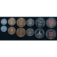 Руанда 6 монет 2003-2011 годов.