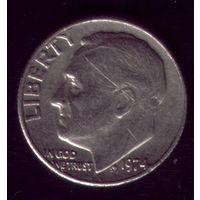 1 дайм 1974 год США