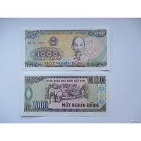 Вьетнам, 1000 донг 1988 года   UNC