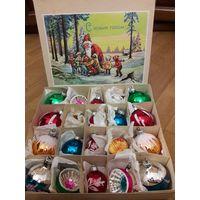 Винтажный набор из 20 ёлочных игрушек ГДР 1972 год с 1 рубля на 5 дней