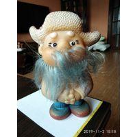 Детская игрушка из резины кукла Старый Дед.