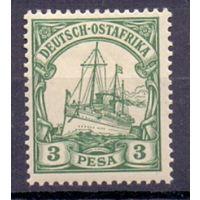 Германия Восточная Африка 3 песо 0Wz 1901 г