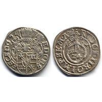 Грошен (1/24 талера) 1604, Германия, Шлезвиг-Гольштейн, Эрнст III. Коллекционное состояние