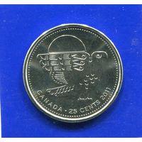 Канада 25 центов 2011 UNC