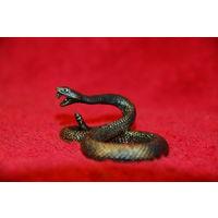 Миниатюра гремучая змея , бронза