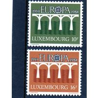 Люксембург. Ми-1098,1099. Европа. С.Е.Р.Т. Мост.1984.