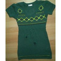 Платье туника темно-зеленая вязаная Orsay