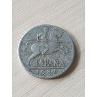 Испания 10 центов 1941г.