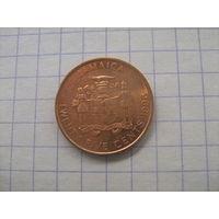 Ямайка 25 центов 1996г.km167