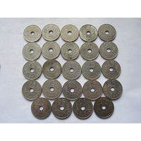 Дания 24 монеты по 25 эре