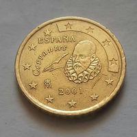 50 евроцентов, Испания 2001 г.