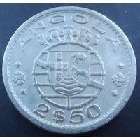 Ангола. 2,5 эскудо 1956