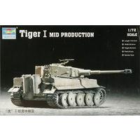"""Танк """"Тигр"""" I (средний), сборная модель 1/72 Trumpeter 07243"""