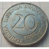Словения 20 толаров, 2003     ( 3-1-3 )