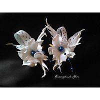 Миниатюрные цветики заколочки-зажимы