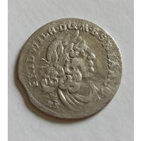 6 грошей 1681  HS Пруссия рельефные орлы на гербе.