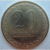 Таджикистан 20 дирам 2019 г.