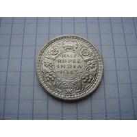 Британская Индия 1/2 рупии (полрупии) 1943, серебро;