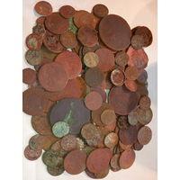140 монет старой меди . с рубля