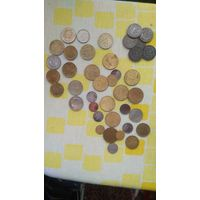 Лот разных монет. С рубля.