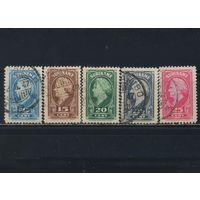 NL Колонии Суринам 1945 Вильгельмина Стандарт #250-254