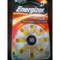 Батарейки Energizer10 Швейцария к слуховому аппарату 8 шт