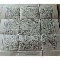 Оригинальная 250м немецкая карта по ПМВ Бартники(Барановичский р-н) 1915г