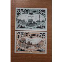 ГЕРМАНИЯ, 25 и 75 Пфеннигов 1921 г. -HERZLAKE-