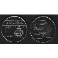 Аруба _km5 1 флорин 1993 год (ba) (b06)
