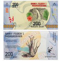 Мадагаскар 200 ариари 2017г.  UNC.   распродажа