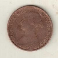 Великобритания 1 фартинг 1862